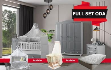 Grey Mega Bebek Odası Full Set
