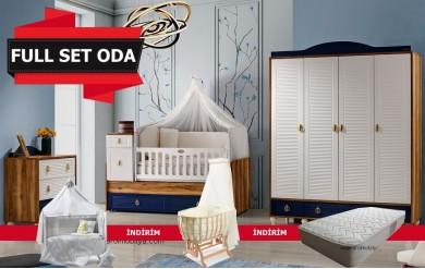 Woddy 4 Kapılı Bebek Odası Full Set