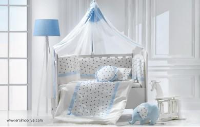 Elephant Mavi Uyku Seti Takımı